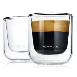 Blomus Set termosklenic na espresso 80 ml NERO