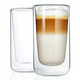 Blomus Set termosklenic na café latte 320 ml NERO