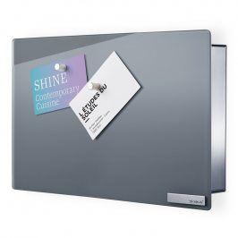 Blomus Skříňka na klíče s magnetickými dvířky 20 x 30 cm VELIO šedá