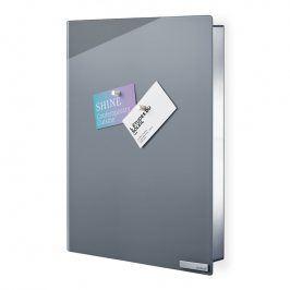 Blomus Skříňka na klíče s magnetickými dvířky 40 x 30 cm VELIO šedá