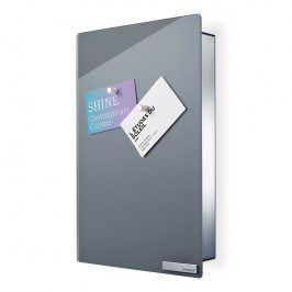 Blomus Skříňka na klíče s magnetickými dvířky 30 x 20 cm VELIO šedá