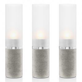 Blomus Svícny beton/matné sklo set 3 kusů FARO
