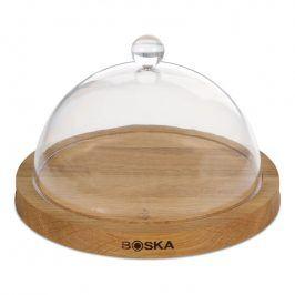 Boska Dřevěné kulaté prkénko na sýr s transparentním poklopem Oak