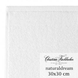 Christian Fischbacher Ručník na ruce/obličej 30 x 30 cm bílý NaturalDream, Fischbacher