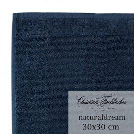 Christian Fischbacher Ručník na ruce/obličej 30 x 30 cm půlnoční modrá NaturalDream, Fischbacher