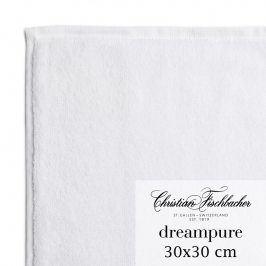 Christian Fischbacher Ručník na ruce/obličej 30 x 30 cm bílý Dreampure, Fischbacher