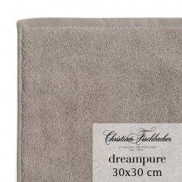 Christian Fischbacher Ručník na ruce/obličej 30 x 30 cm béžovošedý Dreampure, Fischbacher