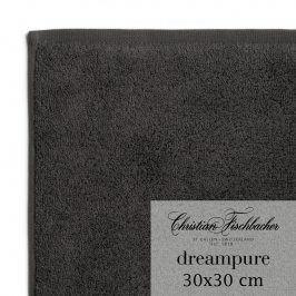 Christian Fischbacher Ručník na ruce/obličej 30 x 30 cm antracitový Dreampure, Fischbacher