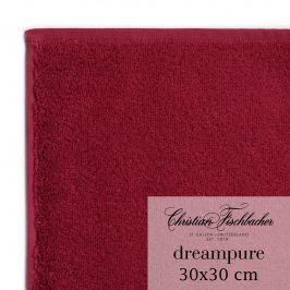 Christian Fischbacher Ručník na ruce/obličej 30 x 30 cm bordeaux Dreampure, Fischbacher