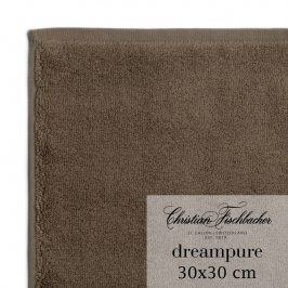 Christian Fischbacher Ručník na ruce/obličej 30 x 30 cm hnědý Dreampure, Fischbacher