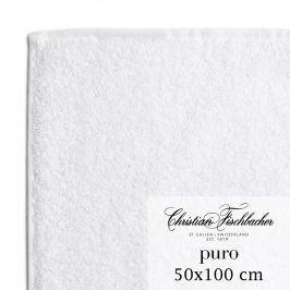 Christian Fischbacher Ručník 50 x 100 cm bílý Puro, Fischbacher