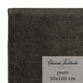 Christian Fischbacher Ručník 50 x 100 cm antracitový Puro, Fischbacher