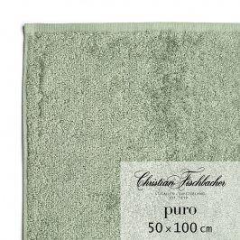 Christian Fischbacher Ručník 50 x 100 cm zelenošedý Puro, Fischbacher