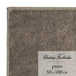 Christian Fischbacher Ručník 50 x 100 cm hnědošedý Puro, Fischbacher