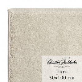 Christian Fischbacher Ručník 50 x 100 cm pískový Puro, Fischbacher