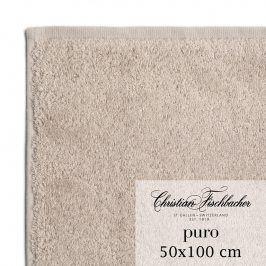 Christian Fischbacher Ručník 50 x 100 cm světle hnědý Puro, Fischbacher