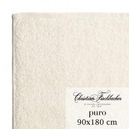 Christian Fischbacher Osuška 90 x 180 cm perlově bílá Puro, Fischbacher