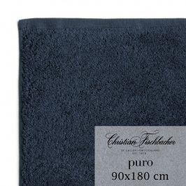Christian Fischbacher Osuška 90 x 180 cm kobaltově modrá Puro, Fischbacher