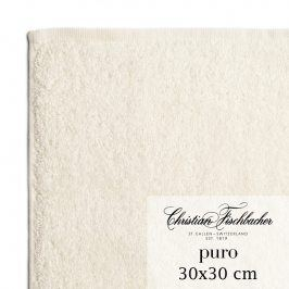 Christian Fischbacher Ručník na ruce/obličej 30 x 30 cm perlově bílý Puro, Fischbacher