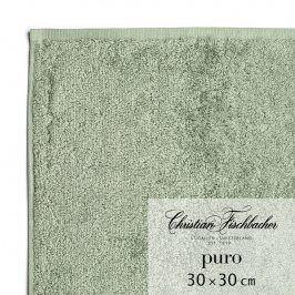 Christian Fischbacher Ručník na ruce/obličej 30 x 30 cm zelenošedý Puro, Fischbacher