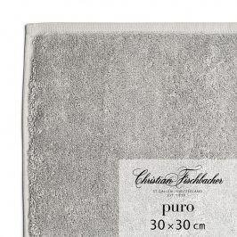 Christian Fischbacher Ručník na ruce/obličej 30 x 30 cm grafitový Puro, Fischbacher