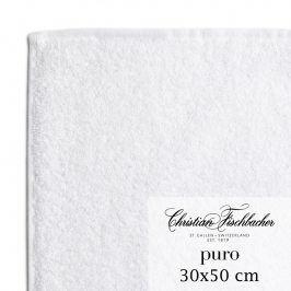 Christian Fischbacher Ručník pro hosty 30 x 50 cm bílý Puro, Fischbacher