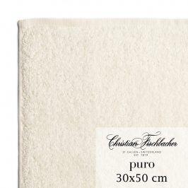 Christian Fischbacher Ručník pro hosty 30 x 50 cm perlově bílý Puro, Fischbacher