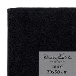Christian Fischbacher Ručník pro hosty 30 x 50 cm černý Puro, Fischbacher