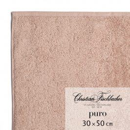 Christian Fischbacher Ručník pro hosty 30 x 50 cm růžovobéžový Puro, Fischbacher