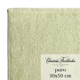 Christian Fischbacher Ručník pro hosty 30 x 50 cm bledě zelený Puro, Fischbacher