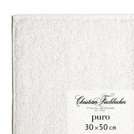 Christian Fischbacher Ručník pro hosty 30 x 50 cm křídový Puro, Fischbacher