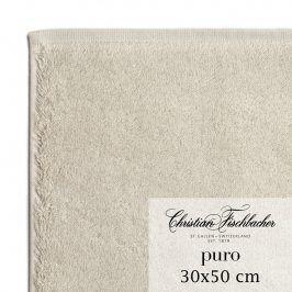 Christian Fischbacher Ručník pro hosty 30 x 50 cm pískový Puro, Fischbacher