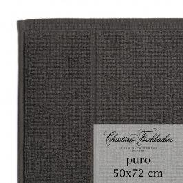 Christian Fischbacher Koupelnová předložka 50 x 72 cm antracitová Puro, Fischbacher