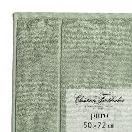 Christian Fischbacher Koupelnová předložka 50 x 72 cm zelenošedá Puro, Fischbacher