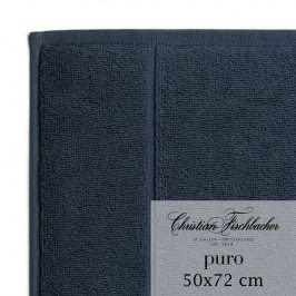 Christian Fischbacher Koupelnová předložka 50 x 72 cm kobaltově modrá Puro, Fischbacher