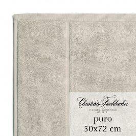 Christian Fischbacher Koupelnová předložka 50 x 72 cm světle hnědá Puro, Fischbacher