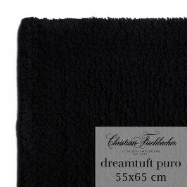 Christian Fischbacher Koupelnový kobereček 55 x 65 cm černý Dreamtuft Puro, Fischbacher