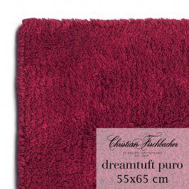 Christian Fischbacher Koupelnový kobereček 55 x 65 cm vínový Dreamtuft Puro, Fischbacher