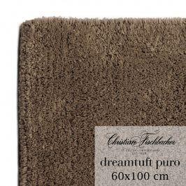 Christian Fischbacher Koupelnový kobereček 60 x 100 cm hnědý Dreamtuft Puro, Fischbacher
