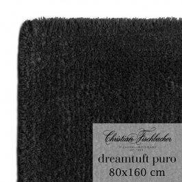 Christian Fischbacher Koupelnový kobereček 80 x 160 cm antracitový Dreamtuft Puro, Fischbacher