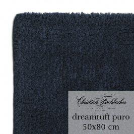 Christian Fischbacher Koupelnový kobereček 50 x 80 cm temně modrý Dreamtuft Puro, Fischbacher