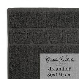 Christian Fischbacher Osuška 80 x 150 cm antracitová Dreamflor®, Fischbacher