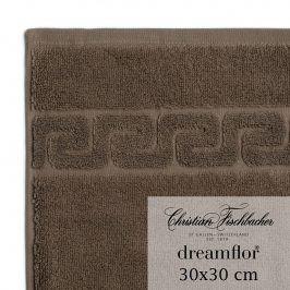 Christian Fischbacher Ručník na ruce/obličej 30 x 30 cm hnědý Dreamflor®, Fischbacher