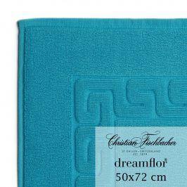 Christian Fischbacher Koupelnová předložka 50 x 72 cm azurová Dreamflor®, Fischbacher