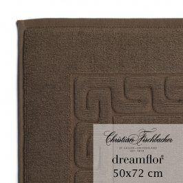 Christian Fischbacher Koupelnová předložka 50 x 72 cm hnědá Dreamflor®, Fischbacher