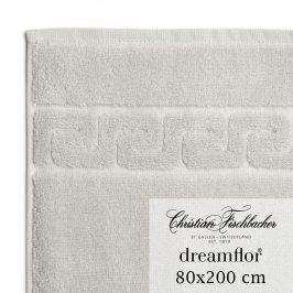 Christian Fischbacher Osuška do sauny 80 x 200 cm stříbrná Dreamflor®, Fischbacher