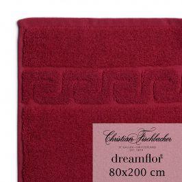 Christian Fischbacher Osuška do sauny 80 x 200 cm bordeaux Dreamflor®, Fischbacher