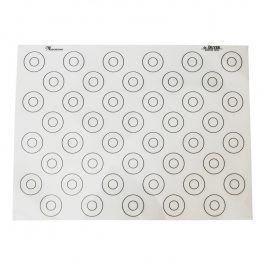 de Buyer Silikonová podložka na makronky se značkami 40 x 30 cm
