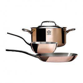 de Buyer Sada měděného nádobí na indukci Prima Matera 3 ks