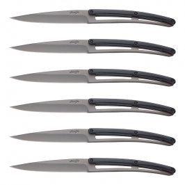 deejo Sada steakových nožů 6dílná PaperStone®, titanium